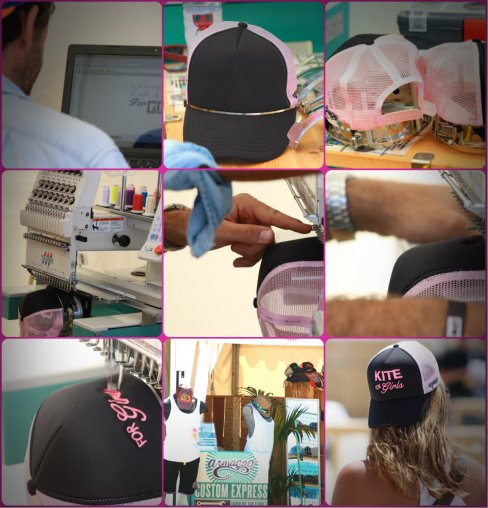 collage cap kite for girls